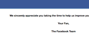 Facebook advertiser survey thank you screen