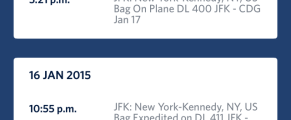Delta's mobile app includes baggage tracking