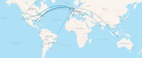 My flights in 2016 visualised