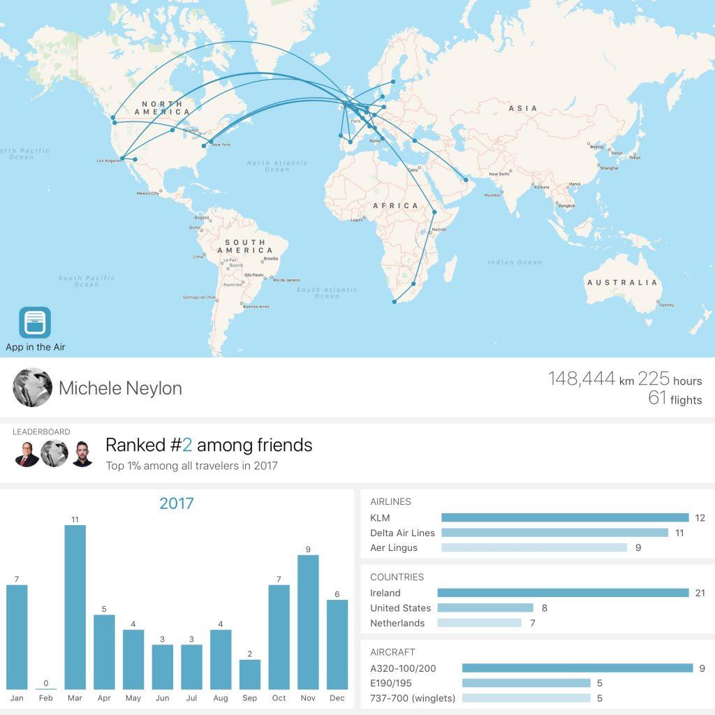 2017 flights visualised